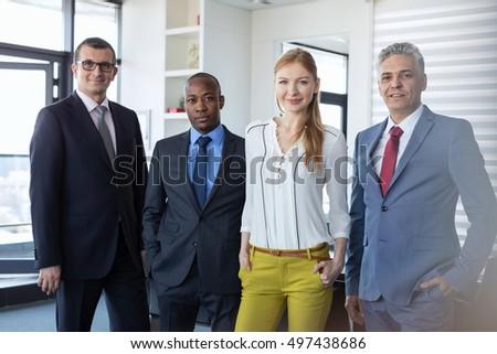 Fronte view gruppo uomini d'affari piedi Foto d'archivio © wavebreak_media