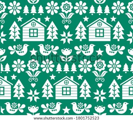 Navidad arte sin costura vector patrón largo Foto stock © RedKoala