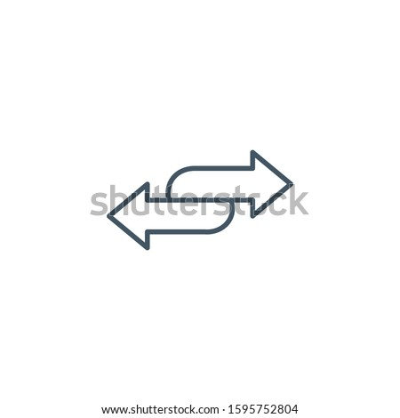 Double arrow icon in four direction. Web navigation. Simple element vector illustration on white bac Stock photo © kyryloff