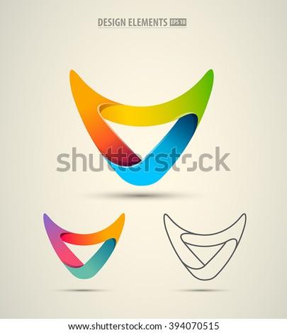V Letter or arrow Logo design. Geometric triangle arrow template. Technology business identity conce Stock photo © kyryloff