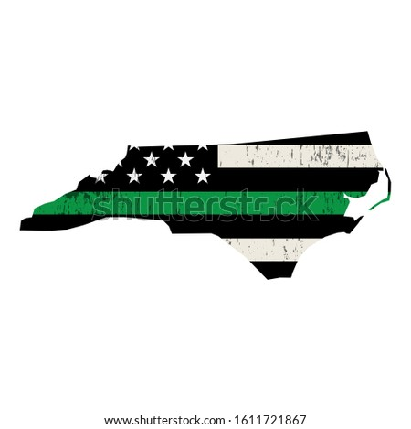State of North Carolina Military Support American Flag Illustrat Stock photo © enterlinedesign
