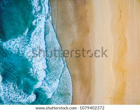 People on the sea coast view from above. Summer bright pictures of a girl Stock photo © ElenaBatkova