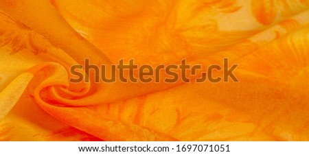 Abstract orange fabric background, velvet textile material for b Stock photo © Anneleven