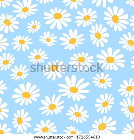青 デイジーチェーン 花 花弁 咲く 抽象的な ストックフォト © Anneleven
