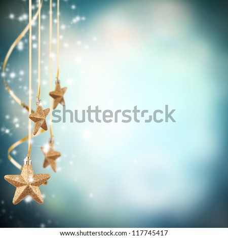 Christmas magic holiday background, festive baubles, yellow vint Stock photo © Anneleven