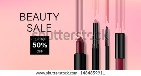Trucco cosmetici prodotto set bellezza marca Foto d'archivio © Anneleven