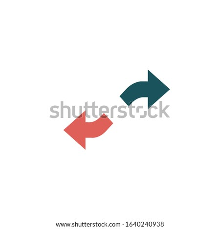 Two Curved Arrows Pointing In opposite Directions. Stock Vector illustration isolated on white backg Stock photo © kyryloff
