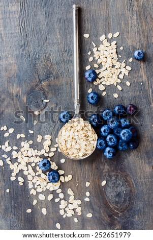 燕麦 セラミック ボウル 新鮮な ストックフォト © marylooo