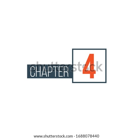 Chapter 4 design template, can be used for books design or tabs. Stock Vector illustration isolated  Stock photo © kyryloff