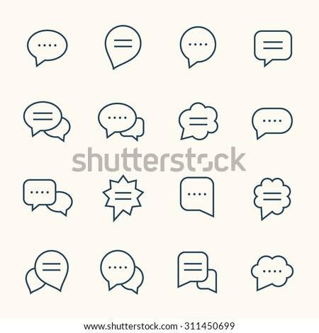 Doğrusal sohbet dizayn iletişim Stok fotoğraf © kyryloff