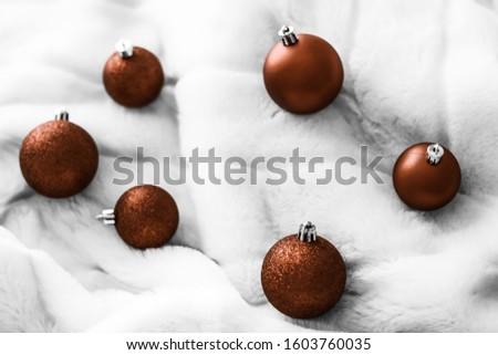 Chocolate marrón Navidad blanco mullido piel Foto stock © Anneleven