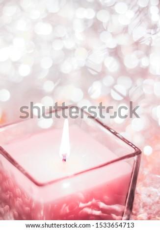 Gül aromatik mum Noel yeni yıl Stok fotoğraf © Anneleven