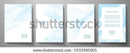 Kolekcja niebieski cyfrowe współczesny szablony plakaty Zdjęcia stock © ExpressVectors