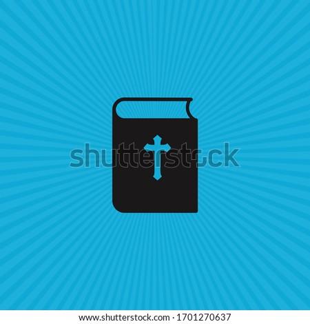 İncil kitap ikon güneş rays misyon Stok fotoğraf © kyryloff
