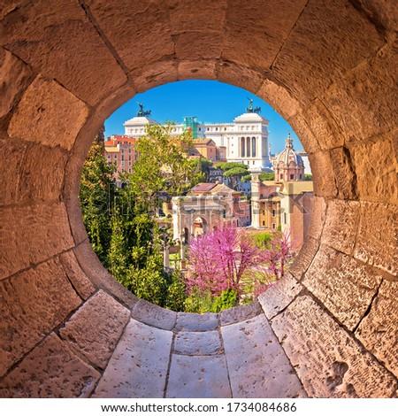 Рим живописный весна мнение каменные окна Сток-фото © xbrchx