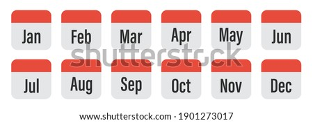 Simple black calendar icon with 12 june date isolated on white Stock photo © evgeny89