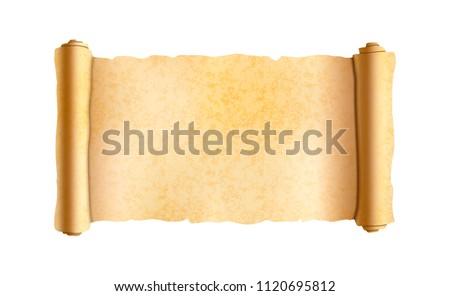 Vecchio orizzontale ampia papiro scorrere Foto d'archivio © evgeny89