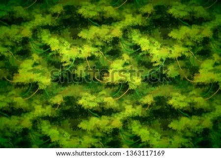 Cute Karikatur tropischen Reben Büsche detaillierte Stock foto © evgeny89