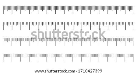 Establecer diferente milímetro gobernante escala blanco Foto stock © evgeny89