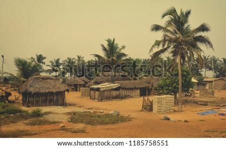 Egyszerű falu ház illusztráció épület természet Stock fotó © bluering