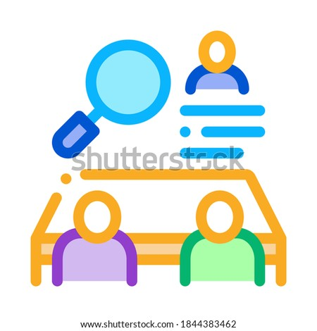 collective interview icon vector outline illustration Stock photo © pikepicture
