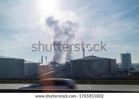 Güçlü atmosfer endüstriyel üzerinde elektrik santralı Stok fotoğraf © artjazz