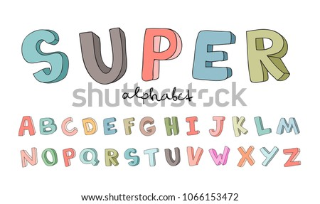 Cartoon cute colorful vector hand drawn doodles School horizontal compositions Stock photo © balabolka