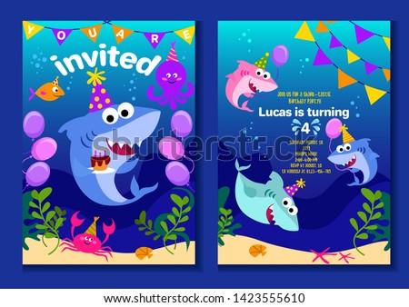 Cute cartoon stijl zee illustratie Stockfoto © bluering