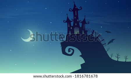 Wicked wizards on night background Stock photo © bluering