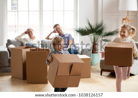 Real estate shopping buying a new house concept. Woman showing miniature small toy model on open han Stock photo © Maridav