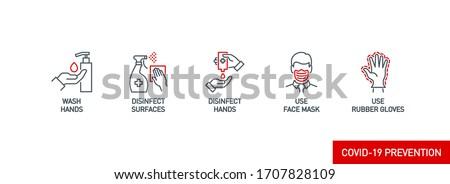 Maskeler coronavirüs kırmızı afiş yüz maske Stok fotoğraf © Maridav