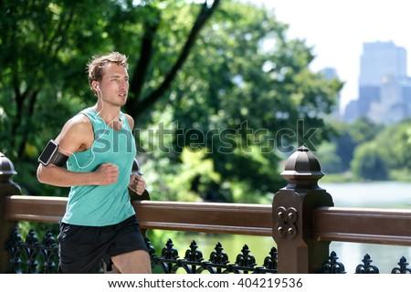 Corredor atleta homem corrida correr maratona Foto stock © Maridav