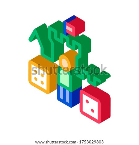 Interactive Kids Castle Personage isometric icon vector illustration Stock photo © pikepicture
