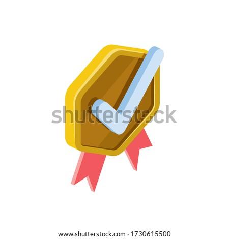 Certidão diploma aprovado isométrica ícone Foto stock © pikepicture