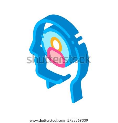 Osoby avatar człowiek sylwetka umysł izometryczny Zdjęcia stock © pikepicture