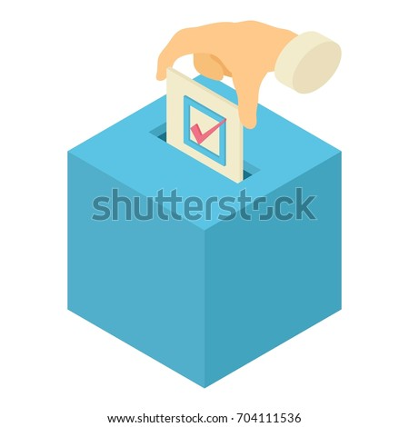 Ballot Box isometric icon vector illustration Stock photo © pikepicture