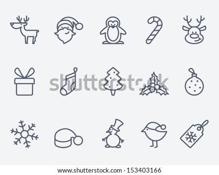Karácsony rajz ikon gyűjtemény hópehely harisnya labda Stock fotó © nazlisart