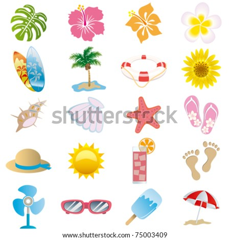 summer background with flower hibiscus, monstera and flip flops. Stock photo © Margolana