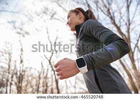 Runner запястье молодые Фитнес-женщины Сток-фото © Maridav
