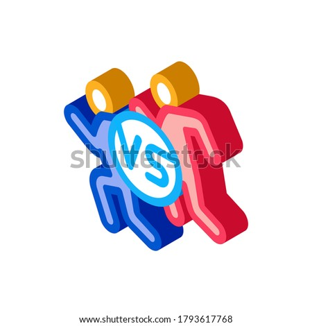 Human Versus Isometric Icon Vector Illustration Stock photo © pikepicture