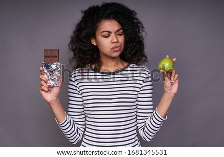 Boa aparência feminino maçã em pé Foto stock © wavebreak_media