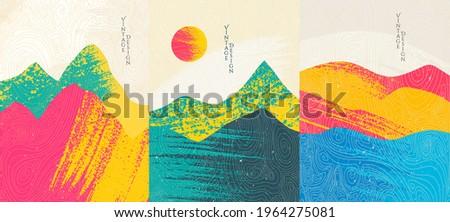 vintage · cartão · mar · ver · elementos · grunge - foto stock © Larser