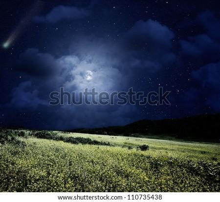 çayır doğal yaz arka kuyrukluyıldız tok Stok fotoğraf © tolokonov