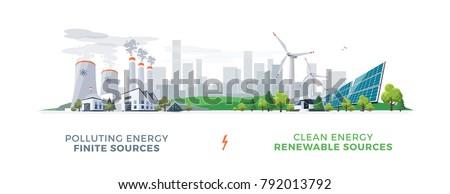 Ecológico eléctrica energía producción pradera cielo azul Foto stock © lunamarina