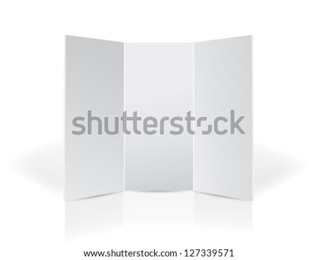 Trifold black leaflet presentation board for your design illustr Stock photo © alexmillos