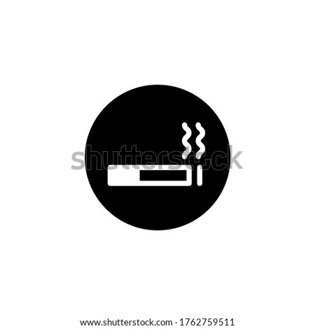 Label smoking area sticker, flat design Stock photo © Ecelop