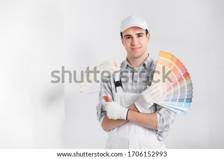 Young painter Stock photo © alphaspirit