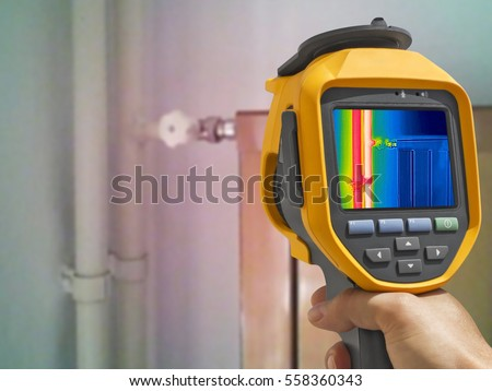 Recording closed Radiator Heater with Infrared Thermal Camera Stock photo © smuki