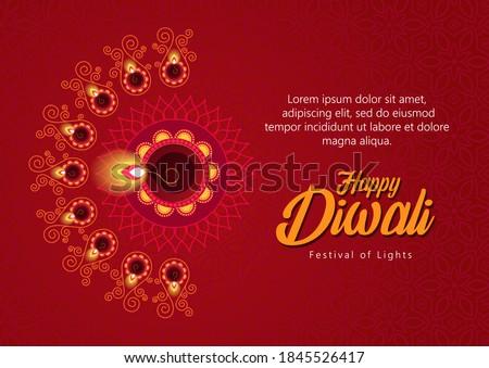 Fericit diwali Flyer proiect Imagine de stoc © SArts