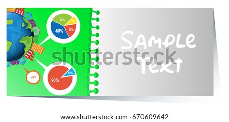 Businesscard with infographic design of piecharts in background Stock photo © bluering